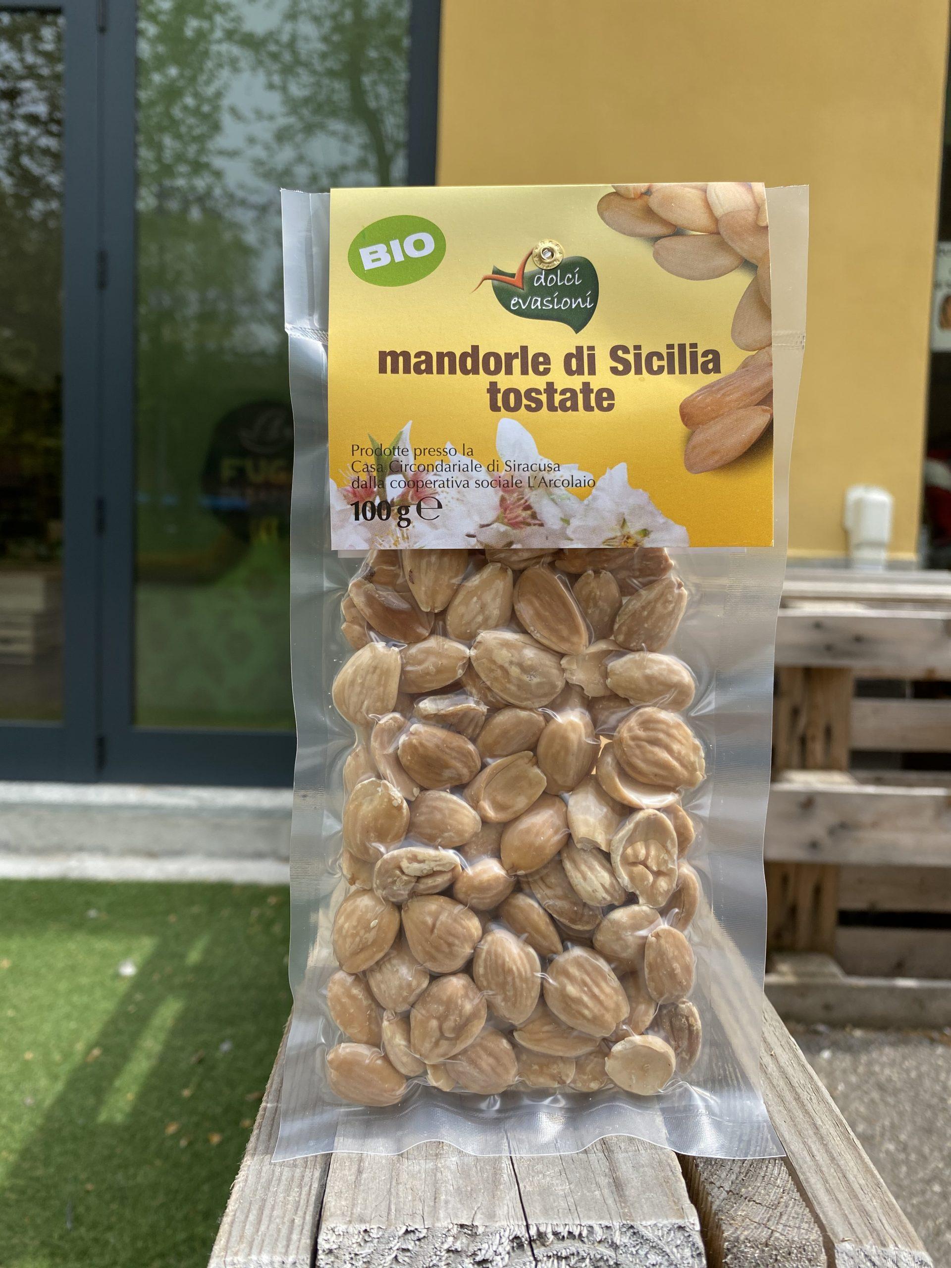 Mandorle di Sicilia tostate BIO – Dolci Evasioni