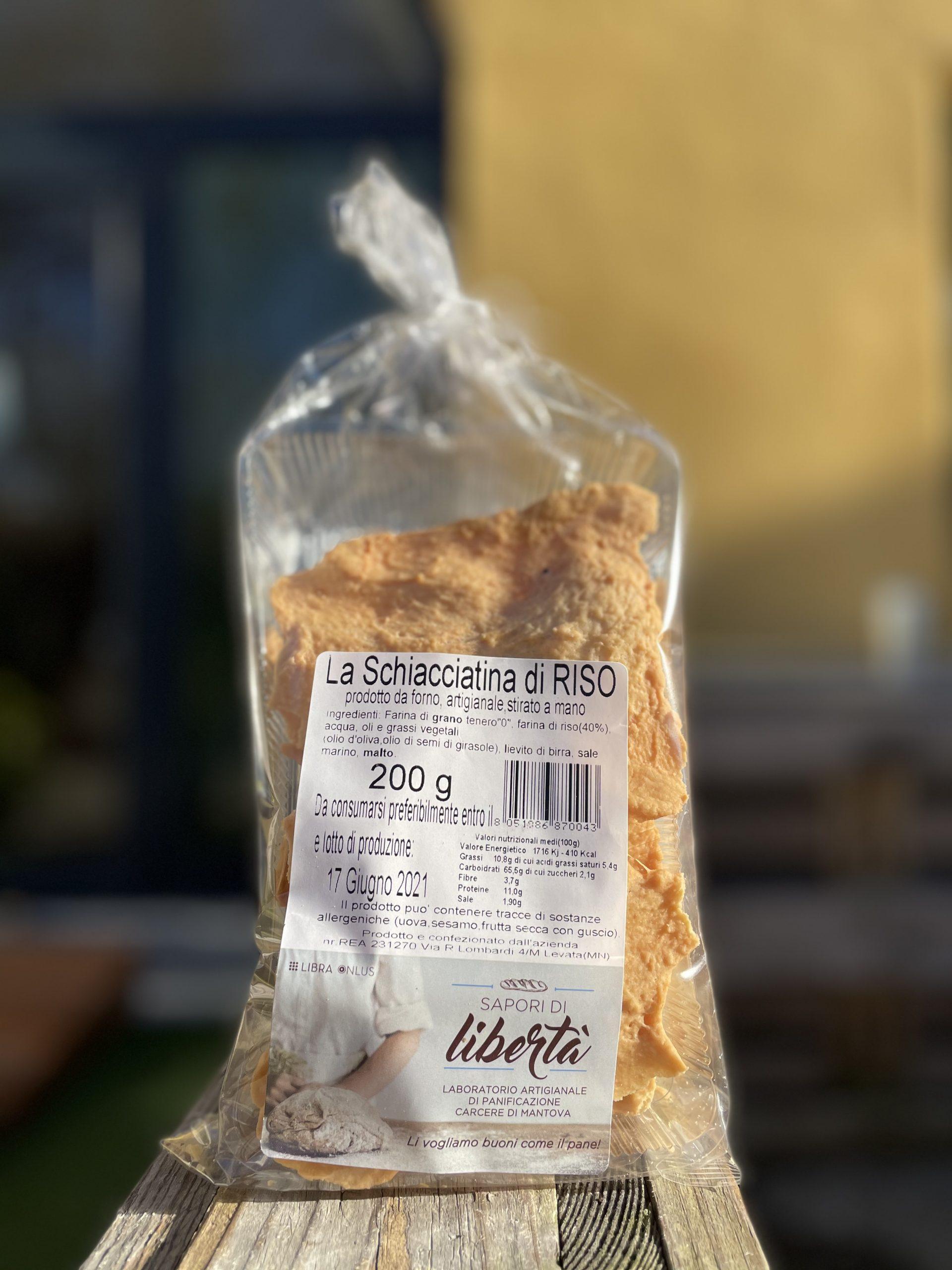 Schiacciatina di riso – Sapori di Libertà